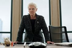 Judi Dench as M. #skyfall #jamesbond  #007