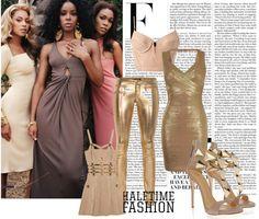 """Golden Goddesses"" by lilsmir ❤ liked on Polyvore"