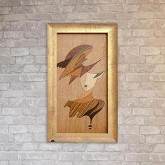 Woman Marquetry Fantasy Portrait Wood