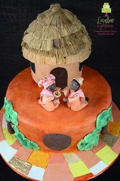 african wedding cake  Cake by LARBREAGATEAUX