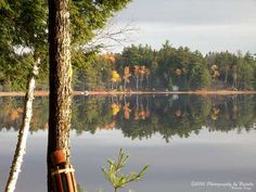 Fall colors reflections in the lake by seeAroostook on Etsy