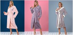 Новые стильные, теплые и очень красивые женские махровые халаты из новой коллекции осень-зима известной ТМ L&L Польша.