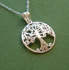 Sterling Silver Filigree Tree of Life Pendant