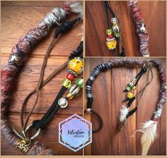 Red earthy brown and grey dreadwrap. 15 inches and decorated with feathers, charms and colourful beads. Perfect for boho, hippy, alternative or festival hairstyles. Temporary Dreads, Dreads Styles, Hair Styles, Dread Wraps, Viking Hair, Dreads Girl, Hair Decorations, Festival Looks, Hair Jewelry