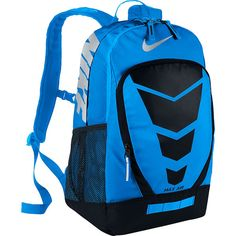 NIKE Max Air Vapor Backpack Large Photo Blue/Black/Metallic Silver *** For more information, visit image link. (This is an affiliate link) Backpack Store, Camo Backpack, Rucksack Bag, Laptop Backpack, Backpack Bags, Fashion Backpack, Adidas Backpack, Nike Under Armour, Nike Bags