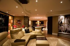 How to Finish Your Basement and Basement Remodeling Finishing your basement can almost double the square foot living space of your home. A finished basement can include new living space such as a r… Best Home Theater, Home Theater Rooms, Home Theater Design, Basement Remodel Diy, Basement Renovations, Home Remodeling, Basement Makeover, Basement Layout, Basement Ideas