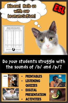 Beginning adult ESL students need phonics for reading and pronunciation, too!  No tracing, matching, or cut and paste!  Engaging pictures and activities for ADULTS.   #phonics #esl #ESLadults #AdultESL #AdultPhonics #Pronunciation