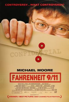 "Film: Fahrenheit 9/11 (2004) Year poster printed: 2004 Country: USA Size: 27""x 40"" ""Controversy... What Controversy?"" This is a vintage one-sheet movie poster from 2004 for Fahrenheit 9/11. The docume"
