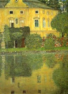 Gustav Klimt:Schlob Kammer On The Attersee