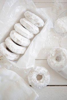 handcrafted in virginia - themodernexchange: Lemon Oat Bourbon Cake Donuts. Bourbon Cake, White Tumblr, Powdered Donuts, Powdered Sugar, Brownie Toppings, Doughnut Cake, Doughnut Shop, White Food, Black And White