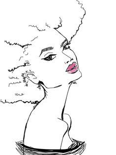 drawing draw artist paris afro natural hair artists on tumblr Afro Art naturalhair TeamNatural blackart naturalista black woman art naturalhairdaily afropean