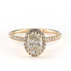 the ring of our dreams… halo setting and oval center stone from james allen