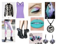 """""""Pastel Goth"""" by ashgordan ❤ liked on Polyvore featuring Betsey Johnson, STELLA McCARTNEY, Iron Fist, Jeffree Star, casual, goth, pastel and pastelgoth"""