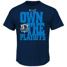 """howcase your Dallas spirit as your Mavericks head to the NBA Playoffs in this Own the Playoffs tee! It features """"Own the Playoffs"""" lettering and a Mavericks logo printed across the front."""