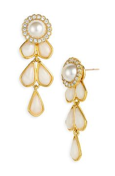 kate spade new york 'sweet zinnia' chandelier earrings | Nordstrom - These are pretty fabulous (and their kate spade!)