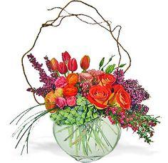 Vibrant Spring Garden Vase