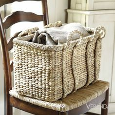 a basket with sophisticated lines, textural integrity, just the right gradation of tone by Suzanne Kasler for Ballard Designs