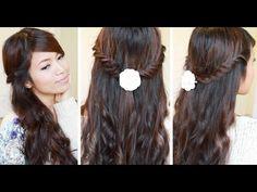 Lace Fishtail Braid Hairstyle | Hair Tutorial - YouTubeBraid Hairstyles, Braids, braids tutorial, braids for short hair, braids for short hair tutorial, braids for long hair, braids for long hair tutorials...