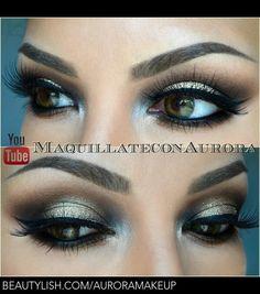 Green smokey eye makeup