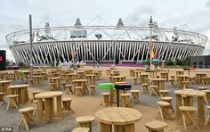 Olympic Park looks like a different place as there isn't a soul in sight. Everyone went home.  .......Olympics 2012- London, England