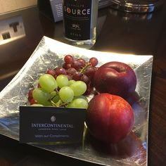 Our Platinum fruit amenity at the InterContinental Park Lane London. Read the full review at www.FlyFamilyFly.com