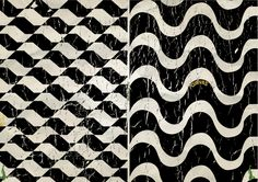 Sao Paulo vs. Rio de Janeiro's sidewalk patterns - the one on the left represents the São Paulo state outline and the one on the right, the waves of the amazing beaches of Rio...