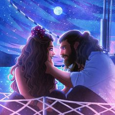 Beautiful 💞By ~A place where only Can and Sanem exist~ I recreated the boat scene since it was requested a lot and I also felt like doing a night sky so here it is! A very dreamy place for CanEm love🌌 Enjoy! Scene Couples, Movie Couples, Romantic Couples, Couple Poses Drawing, Couple Art, Daydream, Funny Cartoons, Pretty Art, The Dreamers