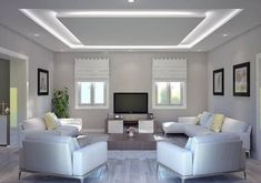 30 Unusual Ceiling Designs Ideas For Living Rooms. Awesome 30 Unusual Ceiling Designs Ideas For Living Rooms. If your ceilings are low, it can make a room look smaller and more closed in. Plaster Ceiling Design, Gypsum Ceiling Design, House Ceiling Design, Ceiling Design Living Room, Bedroom False Ceiling Design, Ceiling Light Design, Home Ceiling, Home Room Design, Ceiling Decor