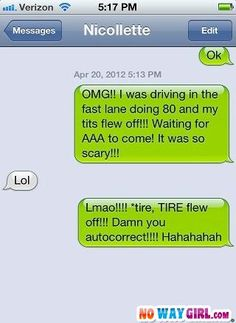 Last year, we cringed and laughed at the top auto-correct text messages sent to friends and loved ones. You'd think we would have learned our lesson by now. Funny Text Fails, Funny Text Messages, Funny Texts, Text Memes, Funny Images, Funny Photos, Autocorrect Funny, Just For Laughs, Just For You