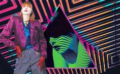 ONDA DIGITAL - Enfocada nas tonalidades esportivas e dinâmicas que refletiram a era dos anos 80, essa tendência glamorosa de cores direciona a primeira fase do início da P/V 17.