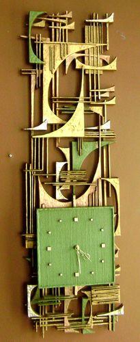 Vintage Modern Arabesque Wall Art Clock Brutalist Molded Plastic Traverse City | eBay