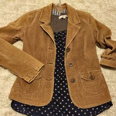 "Beautiful Liar ✨ Tan Corduroy Jacket Looks like a million bucks - um, but it's $12. Forever XXI tan cord jacket. Gently worn. Extra button still attached. See my love notes - 5 star reviews & I try to ship next day! See approximate measurements below.                                                21"" length 33.5 "" Bust fully buttoned (but stretchy) 23"" Sleeve length 97% Cotton, 3% Spandex Machine washable Pet free/smoke free - Clean Home!   I consider offers through offer feature  Forever…"