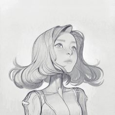 JOY ANG - Originally drawn with a mechanical pencil, then...
