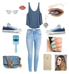 """Untitled #1"" by bettybee3343 ❤ liked on Polyvore featuring RVCA, Converse, Lime Crime, Disney, NARS Cosmetics, MICHAEL Michael Kors, Free People and Sun Buddies"