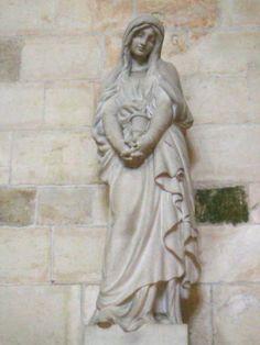Statue of Mary Magdelene in Basilica of St. Mary Magdalene - Vezelay, France |