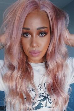 A custom mix we can't resist 😍🙌 @tattdnubian in diluted Virgin Pink, Cosmic Sunshine and Ritual 💫 Get a similar result by mixing in some Arctic Mist ⚪️ #AFvirginpink #AFcosmicsunshine #AFritual #AFarcticmist Hair Color Pink, Pink Hair, Bright Hair, Free Hair, Pink Aesthetic, Diy Hairstyles, Hair Goals, Mists, Long Hair Styles