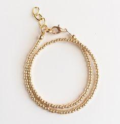 All Gold Wrap Bracelet by LittlePretties28 on Etsy https://www.etsy.com/listing/221047175/all-gold-wrap-bracelet