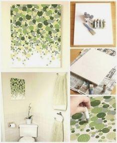 Einfache und kostengünstige wand-kunst kann jeder machen. Ich liebe diese!!! Unsere schlafzimmer oder in einem unserer zimmer.