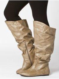 Women's Shoes - Sara Flat Suede Boots - EziBuy Australia wide calf ...