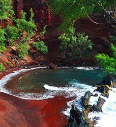 Red Sand Beach near Hana, Maui.