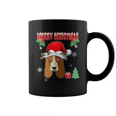 This cute design will be a great gift for you or your family  Merry Christmas Dogs basset hound Tee Shirts T-Shirts
