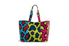 Azzurra Gronchi spring/summer bags collection, shopper bag pixel print