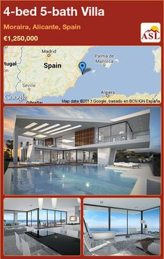 4-bed 5-bath Villa in Moraira, Alicante, Spain ►€1,250,000 #PropertyForSaleInSpain