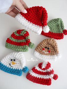 Crochet Christmas Decorations, Crochet Christmas Ornaments, Christmas Crochet Patterns, Holiday Crochet, Crochet Gifts, Knit Crochet, Christmas Crafts, Crochet Motif Patterns, Crotchet