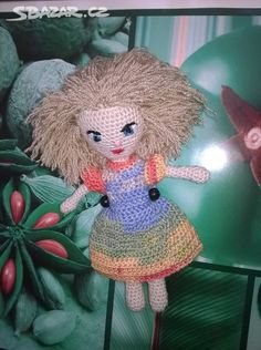 Háčkovaná panenka - Brno - Sbazar.cz Amigurumi Doll, Crochet Hats, Dolls, Christmas Ornaments, Holiday Decor, Knitting Hats, Baby Dolls, Puppet, Christmas Jewelry