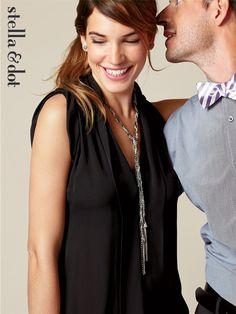 Adrienne Mixed Chain Necklace - Wear Multiple Ways - Stella & Dot