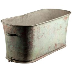 Zinc Bathtub | From a unique collection of antique and modern bathroom fixtures at http://www.1stdibs.com/furniture/building-garden/bathroom-fixtures/