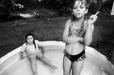 Amanda and her cousin Amy, Valdese, North Carolina by Mary Ellen MarkNorth Carolina, USA, 1990