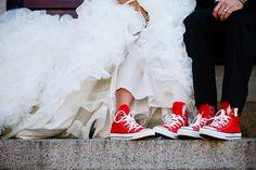 Converse bride and groom shoe shot. Love Life Image.