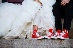Converse bride and groom shoe shot. Love Life Image.